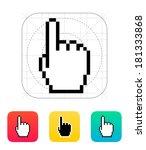 one finger. pixel hand cursor...