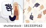 abstract set with seamless... | Shutterstock .eps vector #1813339162