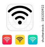 wireless network icon. wireless ...