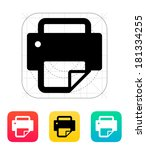 printer with document icon. | Shutterstock . vector #181334255