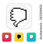 finger down. pixel hand cursor...