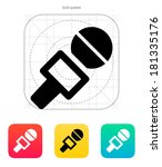 journalist microphone icon.