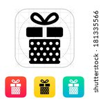 gift box with dots icon.