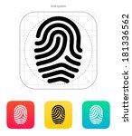 fingerprint loop type icon.