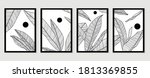 botanical wall art vector set.... | Shutterstock .eps vector #1813369855