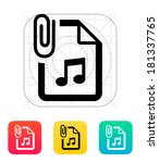 attached audio file icon.