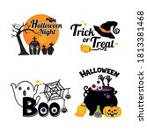 set of halloween signs  badges... | Shutterstock .eps vector #1813381468