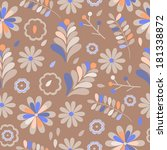 seamless vector flower pattern... | Shutterstock .eps vector #181338872