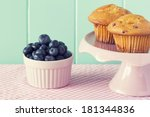 blueberry muffin in a cake... | Shutterstock . vector #181344836