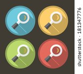 flat magnifying glass icon with ...