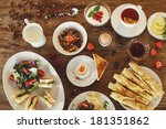 breakfast table | Shutterstock . vector #181351862