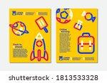 back to school  online learning ...   Shutterstock .eps vector #1813533328
