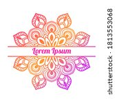 colorful gradient floral card... | Shutterstock .eps vector #1813553068