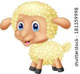 baby sheep cartoon | Shutterstock .eps vector #181359998