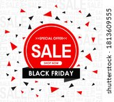 black friday sale banner and... | Shutterstock .eps vector #1813609555