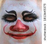 Close Up Portrait Of A Clown