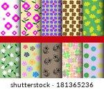 seamless pattern flower | Shutterstock .eps vector #181365236