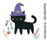 halloween illustration for... | Shutterstock .eps vector #1813668358