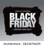 black friday sale banner layout ... | Shutterstock .eps vector #1813676635