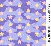 Satrry Purple Night Sky Pattern ...