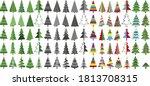 huge set of christmas tree...   Shutterstock .eps vector #1813708315