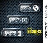 business tech infographic... | Shutterstock .eps vector #181371902