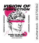 vision of perfection slogan... | Shutterstock .eps vector #1813730362