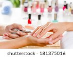 close up of process of manicure ... | Shutterstock . vector #181375016