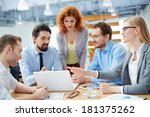 group of business partners... | Shutterstock . vector #181375262