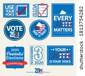 set of 8 stickers with some...   Shutterstock .eps vector #1813754282