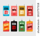 sale price tags and discount...   Shutterstock .eps vector #1813757318