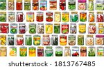 set of different canned food...   Shutterstock .eps vector #1813767485