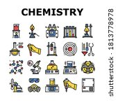 chemistry laboratory collection ...   Shutterstock .eps vector #1813778978
