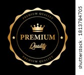 premium quality badge crown... | Shutterstock .eps vector #1813784705