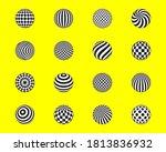 set abstract pattern balls....   Shutterstock .eps vector #1813836932