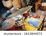 Close Up Of A Drum Cymbal In A...