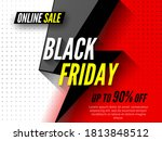 black friday online sale banner.... | Shutterstock .eps vector #1813848512