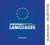 european day of language  26...   Shutterstock .eps vector #1813874732