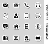 contact  icons set as labes | Shutterstock .eps vector #181388066