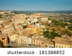 view of cardona in summer.... | Shutterstock . vector #181388852