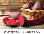 Cut And Whole Raw Beets On...