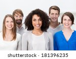 multiethnic group of happy... | Shutterstock . vector #181396235