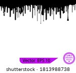 dripping paint drips background.... | Shutterstock .eps vector #1813988738