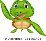 cute sea turtle cartoon   Shutterstock .eps vector #181401476