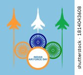 indian air force day with...   Shutterstock .eps vector #1814043608