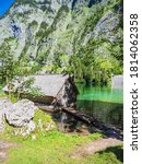 Lake Obersee With Rocks And...