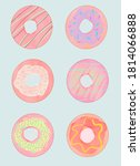Set Of Colourful Donuts. ...