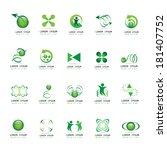 unusual icons set   isolated on ... | Shutterstock .eps vector #181407752