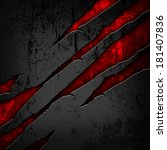 scratched metal background   Shutterstock . vector #181407836