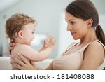 loving mother playing with her... | Shutterstock . vector #181408088